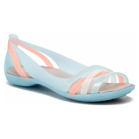 Sandały CROCS - Isabella Huarache 2 Flat 2 204912 Ice Blue/Platinum