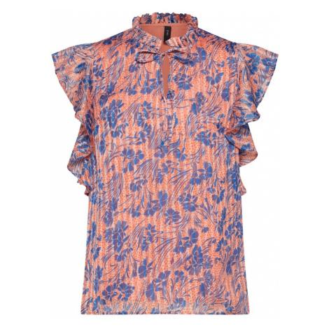 Y.A.S Bluzka 'IRIS' niebieski / różowy pudrowy