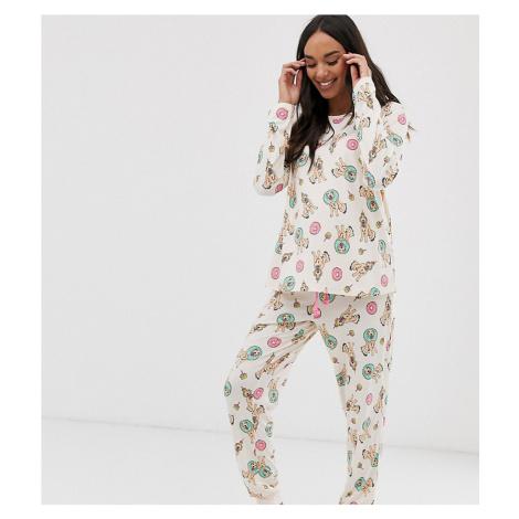 Chelsea Peers Maternity birthday dog donut print long pyjama set