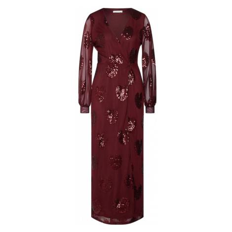 VILA Sukienka 'VICHER L/S MAXI DRESS/VTA' czerwone wino