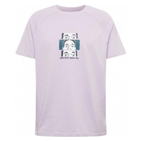 Review Koszulka 'Seek Face' szary / liliowy / biały