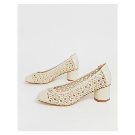 Co Wren woven square toe mid heels