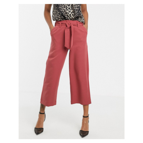 Unique21 tailored tie front culotte trousers