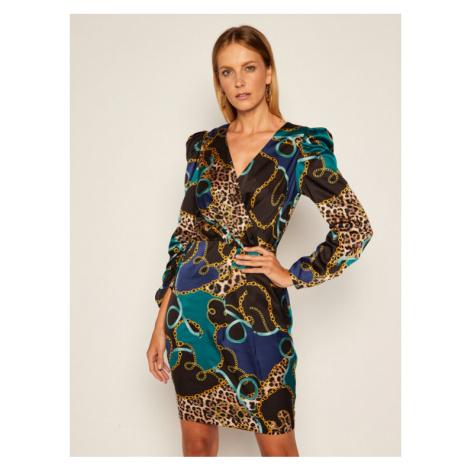 Marciano Guess Sukienka koktajlowa Foulard 0BG767 7099Z Kolorowy Regular Fit