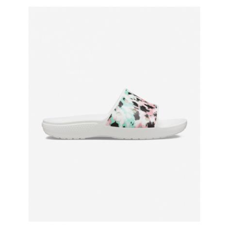 Crocs Classic Tie-Dye Mania Slide Crocs Biały