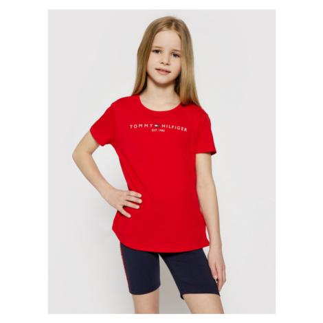 Tommy Hilfiger T-Shirt Essential KG0KG05242 D Czerwony Regular Fit