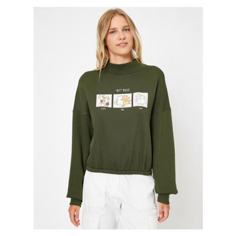 Damska bluza z zielonym nadrukiem Koton