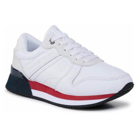 Sneakersy TOMMY HILFIGER - Corporate Feminine City Sneaker FW0FW05233 White YBR