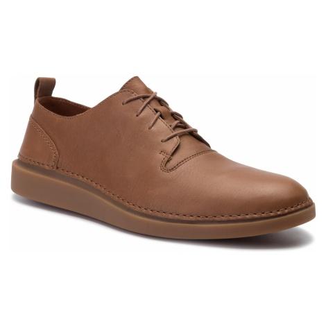 Półbuty CLARKS - Hale Lace 261393487 Tan Leather