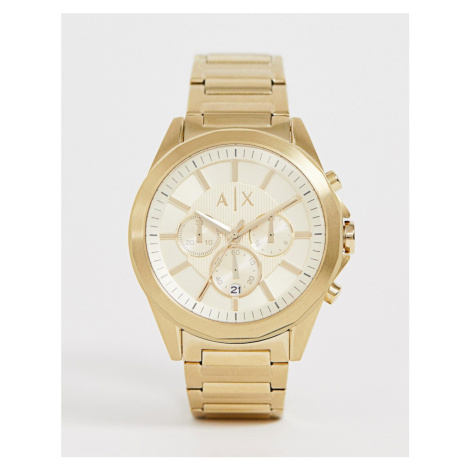 Armani Exchange AX2602 stainless steel watch in gold