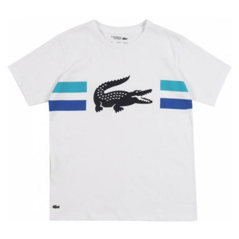LACOSTE Koszulka biały / czarny / niebieski