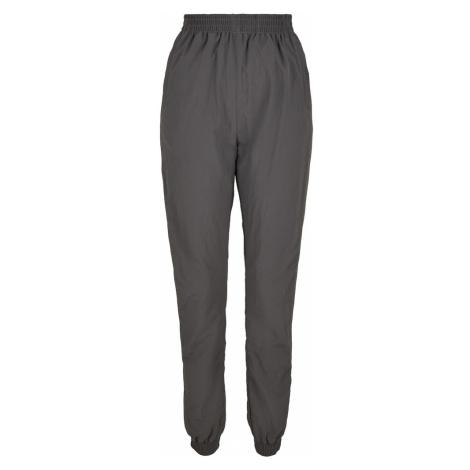 Urban Classics Spodnie biały / szary bazalt / limonka
