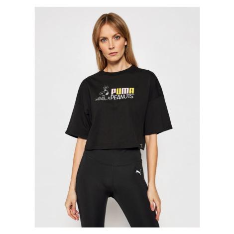 Puma T-Shirt PEANUTS W Tee 531158 Czarny Loose Fit