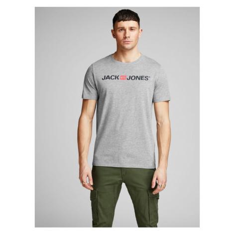 Jack&Jones T-Shirt Corp Logo 12137126 Szary Slim Fit