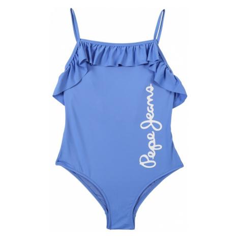 Pepe Jeans Strój kąpielowy 'SAIGON SWIMSUIT' niebieski