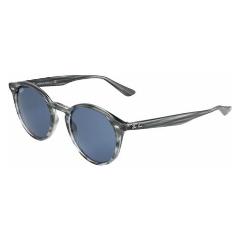 Ray-Ban Okulary przeciwsłoneczne podpalany niebieski / szary