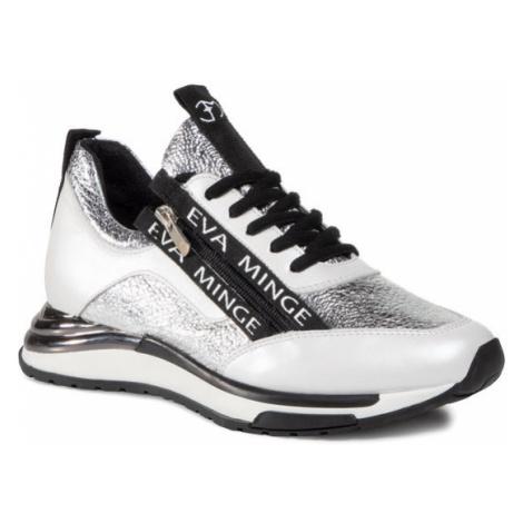 Eva Minge Sneakersy EM-55-08-000985 Srebrny