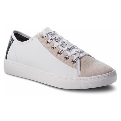 Sneakersy TOMMY JEANS - Color Mix Light Sneaker EM0EM00124 White 100 Tommy Hilfiger