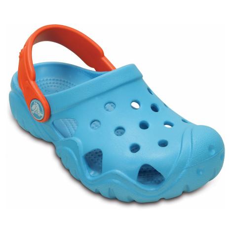buty dziecięce Crocs Swiftwater Clog - Electric Blue/Tangerine