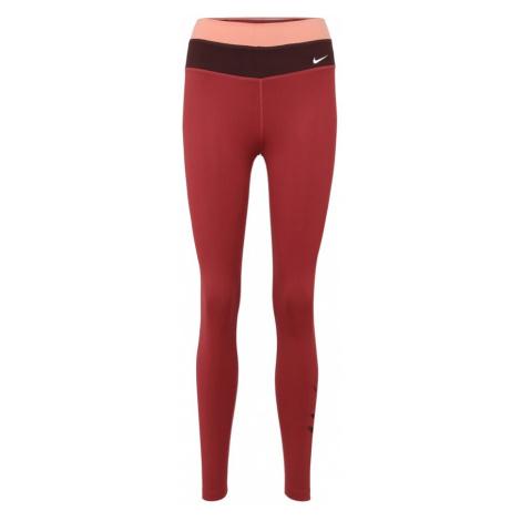 NIKE Spodnie sportowe brzoskwiniowy / czerwony / czarny
