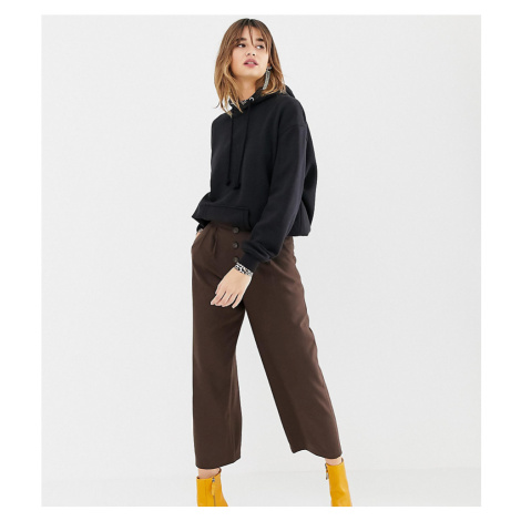 Stradivarius high waisted wide leg trouser with button detailing