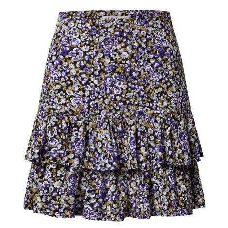 EDITED Spódnica 'Gwen' mieszane kolory / ciemnofioletowy / brązowy / beżowy / czarny