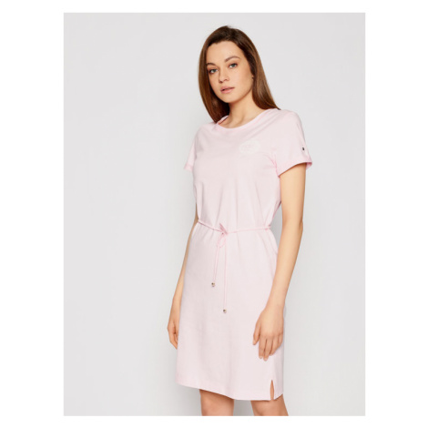 Tommy Hilfiger Sukienka letnia Abo Earth Day WW0WW32331 Różowy Regular Fit