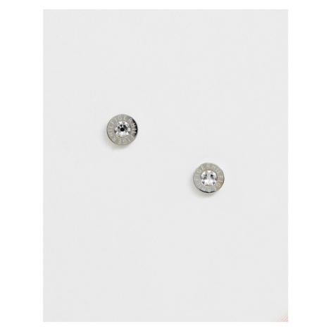 Tommy Hilfiger logo stud earrings in silver