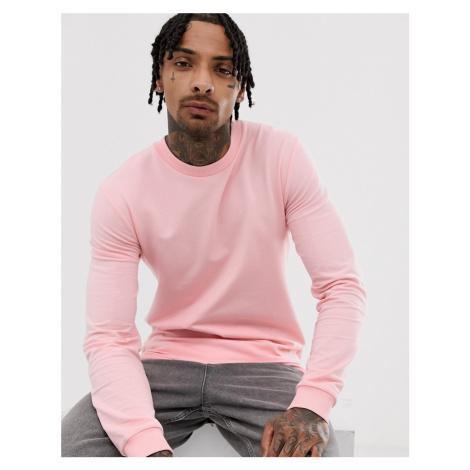 ASOS DESIGN muscle sweatshirt in pink