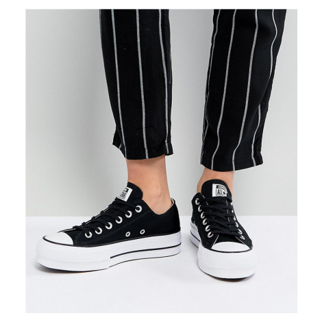 Converse Chuck Taylor All Star Platform Ox Trainers In Black