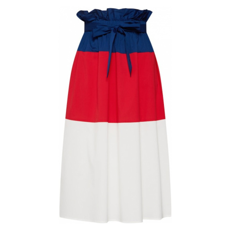 SELECTED FEMME Spódnica 'SLFLASH HW MIDI SKIRT' niebieski / czerwony / biały