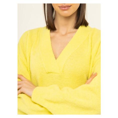 Tommy Hilfiger Sweter Candace WW0WW27017 Żółty Oversize