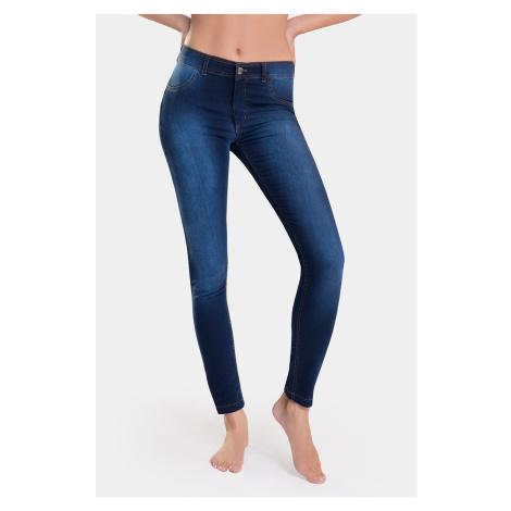 Damskie legginsy z dżinsowym wzorem Timea Bas Bleu