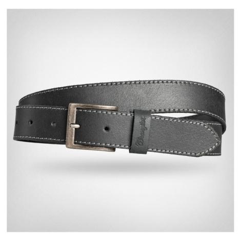 """Wrangler """"Basic Stitched Belt"""" Black"""