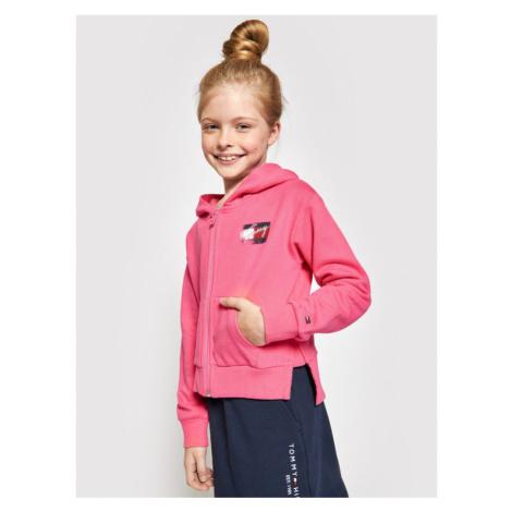 Tommy Hilfiger Bluza Flag Print Zip Hoody KG0KG05765 M Różowy Regular Fit
