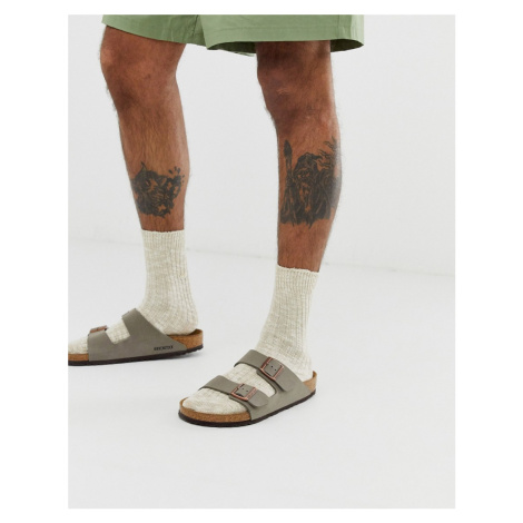 Birkenstock cotton slub socks in beige