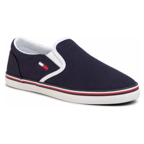 Tenisówki TOMMY JEANS - Essential Slip On Sneaker EN0EN00782 Twilight Navy C87 Tommy Hilfiger