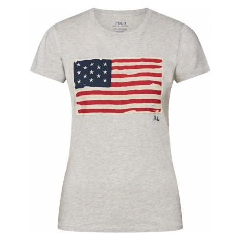 POLO RALPH LAUREN Koszulka 'SS FLAG TEE-SHORT SLEEVE-KNIT' niebieska noc / nakrapiany szary / cz