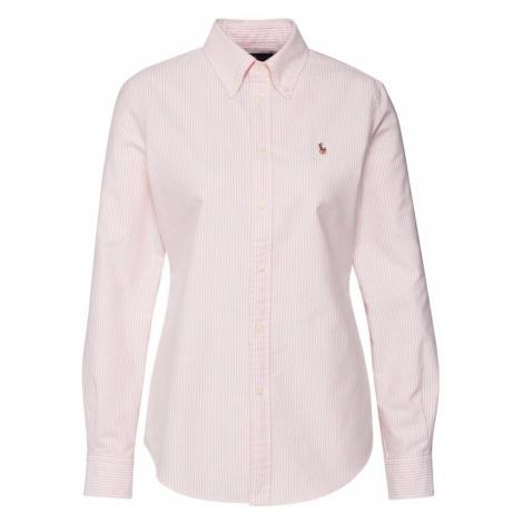 POLO RALPH LAUREN Bluzka różowy pudrowy / biały