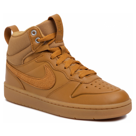 Buty NIKE - Court Borough Mid 2 Boot (GS) BQ5440 700 Wheat/Wheat Gum Med Brown