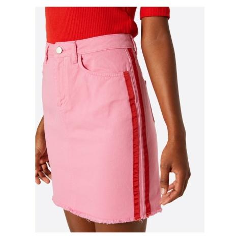 NA-KD Spódnica różowy / czerwony