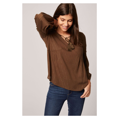 Brązowe damskie bluzki