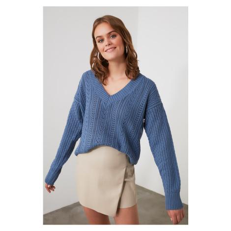 Trendyol Blue Ajurlu Knitwear Sweater