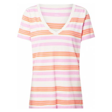GAP Koszulka 'SS VINT RIB VNK STR' różowy / beżowy / jasnoniebieski