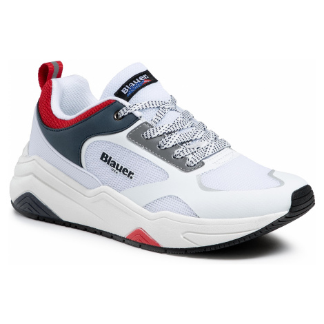 Sneakersy BLAUER - S1TOK01/MES White/Red/Navy