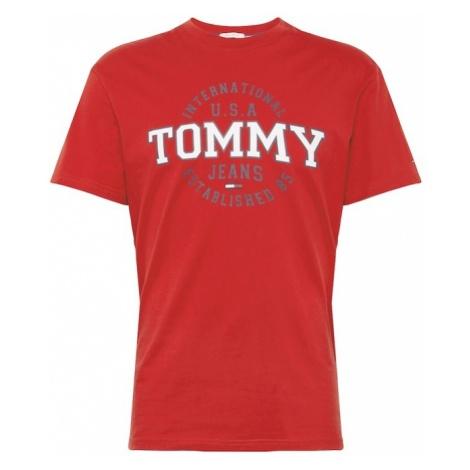 Tommy Jeans Koszulka 'TJM CIRCULAR TEE' ciemny niebieski / czerwony / biały Tommy Hilfiger