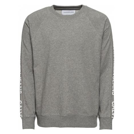 Calvin Klein Jeans Bluzka sportowa 'INSTIT SIDE STRIPE CREW NECK' nakrapiany szary