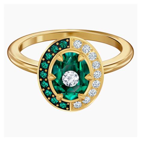 Pierścionek Black Baroque, zielony, w odcieniu złota Swarovski