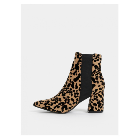 Brown ankle boots with cheetah pattern dorothy perkins