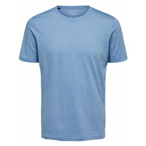 SELECTED HOMME Koszulka podpalany niebieski